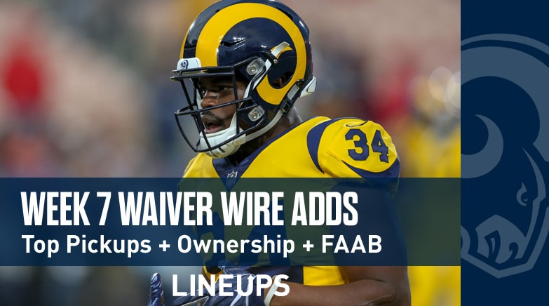 Week 7 Waiver Wire Pickups Adds Fantasy Football 2019