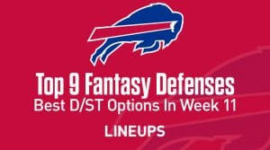 Top 9 Fantasy Football Defense Rankings for Week 11
