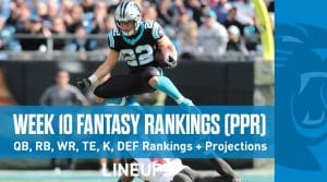 Week 10 Fantasy Football PPR Rankings & Projections