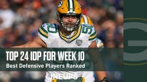Top 24 Defensive Players (IDP) For Week 10