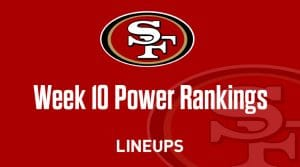 NFL Week 10 Power Rankings