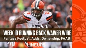 Week 10 RB Waiver Pickups & Adds: Running Back FAAB Bids, % Owned