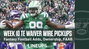 Week 10 TE Waiver Pickups & Adds: Fantasy Football FAAB Bids, % Owned