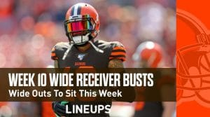 Wide Receiver Fantasy Busts for Week 10: Wide Receivers to Sit