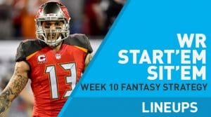 Week 10 WR Start'em, Sit'em: Wide Receiver Fantasy Football Strategy