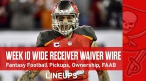 Week 10 WR Waiver Pickups & Adds: Fantasy Football FAAB Bids, % Owned
