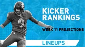 Week 11 Kicker Rankings: Fantasy Kickers Pickups & Streamers