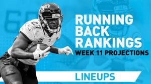 Week 11 RB Rankings PPR: Running Back Fantasy Stats & Projections