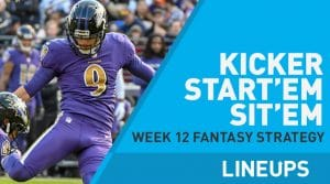 Week 12 K Start, Sit: Who to Play at Kicker: Younghoe Koo To Have A Busy Day