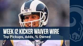 Week 12 Kicker Waiver Wire Pickups & Adds: % Owned