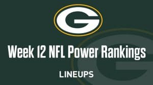 Week 12 NFL Power Rankings