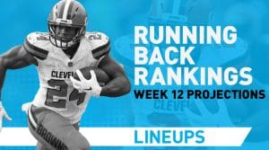 Week 12 RB Rankings PPR: Running Back Fantasy Stats & Projections