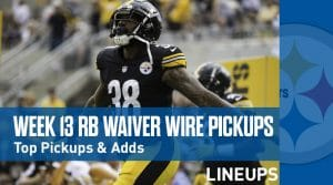 Week 13 RB Waiver Pickups & Adds: Jonathan Williams on a Hot Streak