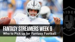 Fantasy Football Streamers for Week 9 (PPR)