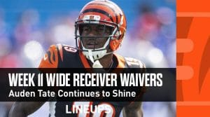 Week 11 WR Waiver Pickups & Adds: Auden Tate a Must Have (PPR FAAB Bids, % Owned)