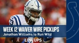 Week 12 Waiver Wire Pickups & Adds: Fantasy Football 2019