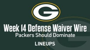 Week 14 Defense (DEF/DST) Waiver Wire Pickups: Packers Should Dominate