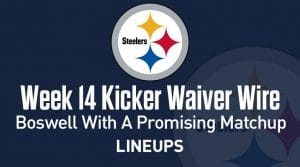 Week 14 Kicker Waiver Wire Pickups & Adds: Boswell with a Promising Matchup