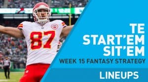 Week 15 TE Start, Sit Fantasy Strategy: Jared Cook On Fire
