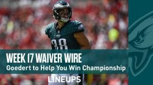 Week 17 Waiver Wire Top Pickups & Adds: Back Up Running Backs Could Have Big Volume