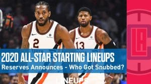 All-Star Starting Lineups 2020: Reserves Announced with Several Potential Snubs