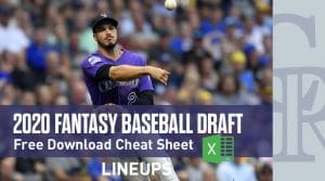 2020 Fantasy Baseball Cheat Sheet: Download Free Excel Draft Sheet