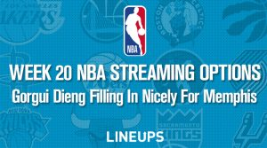 Week 20 NBA Streaming Options: Gorgui Dieng Filling In Nicely For Memphis