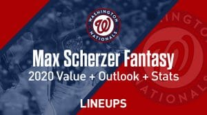 Max Scherzer Fantasy Baseball Outlook & Value 2020