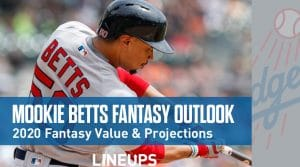 Mookie Betts Fantasy Baseball Outlook & Value 2020