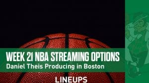 Week 21 NBA Streaming Options: Daniel Theis Producing in Boston
