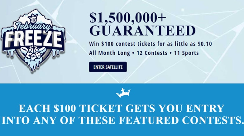 February Freeze - DraftKings Daily Fantasy Contest Promotions