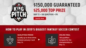DraftKings King of the Pitch Promotion