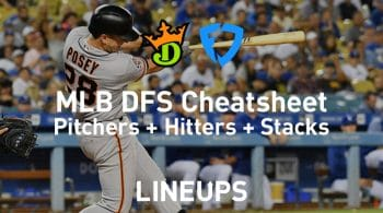 FanDuel & DraftKings MLB DFS Cheat Sheet 4/25/19