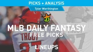 DraftKings MLB Daily Fantasy Picks 9/26/19