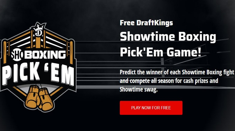 DraftKings SHO Boxing Pick'Em Contest