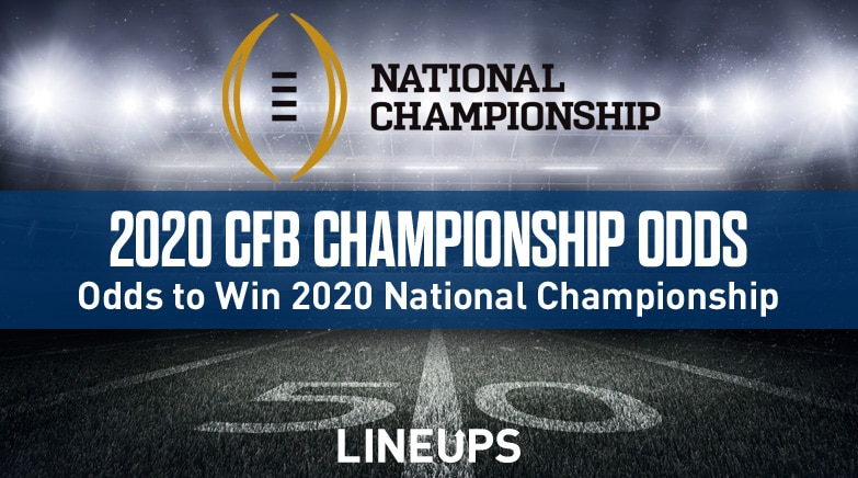 2020 College Football Playoff National Championship Odds