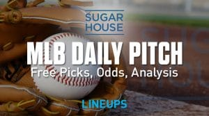 SugarHouse Sportsbook Daily Pitch 6/14/19: Free Betting Lines, Picks, Props