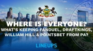What is Keeping Online Sportsbooks like FanDuel, DraftKings, William Hill & PointsBet Out of PA?
