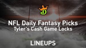 DraftKings NFL Daily Fantasy Cash Game Picks Week 6