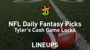 DraftKings NFL Daily Fantasy Cash Game Picks Week 8