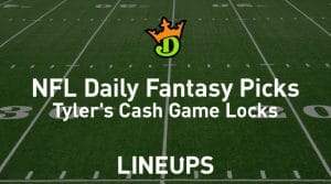 DraftKings NFL Daily Fantasy Cash Game Picks Week 11