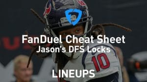 FanDuel NFL Week 5 Cheat Sheet: Daily Fantasy Rankings, Projections, Stacks (Free Download)