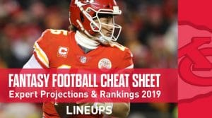 Fantasy Football Cheat Sheet: Expert Rankings and Projections Draft System 2019