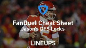 FanDuel NFL Conference Round Cheat Sheet: Daily Fantasy Rankings, Projections, Stacks (Free Download)