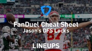 FanDuel NFL Week 4 Cheat Sheet: Daily Fantasy Rankings, Projections, Stacks (Free Download)