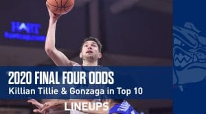 2020 Final Four Odds: Killian Tillie & Gonzaga in Top 10
