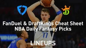 FanDuel & DraftKings NBA Cheat Sheet 1/23/19
