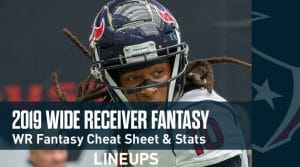 2019 Wide Receivers Fantasy Football Cheat Sheet: WR Fantasy Stats