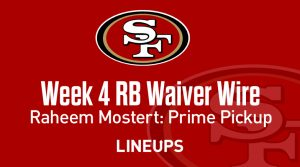 Week 4 RB Waiver Pickups & Adds: Running Back Fantasy FAAB Bids