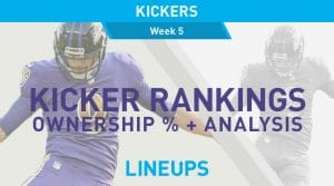 Week 5 Kicker Rankings: Fantasy Kickers Pickups & Streamers